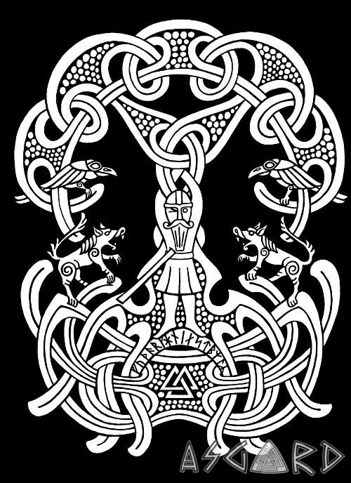 Odin and the Runes T-shirt Design