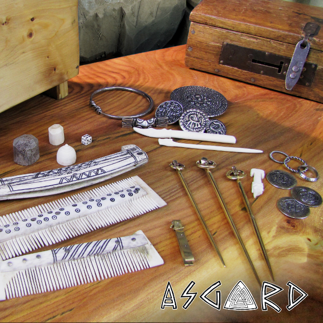 Most of the items that were made for the Jorvik Viking Centre by Asgard.