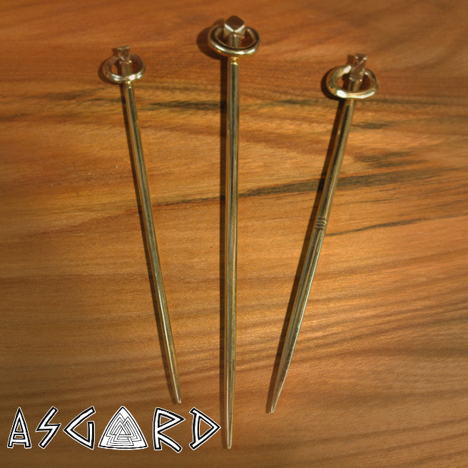 Ring pins based on the Coppergate designs.