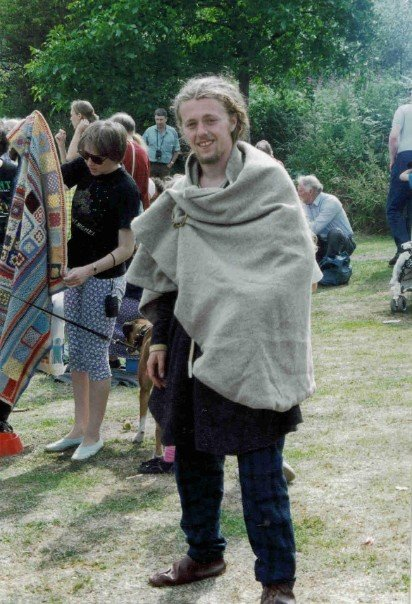 A very young archaeology student, just discovering Viking re-enactment.