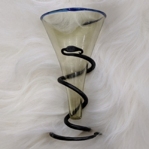 Viking Cone Glass with Blue Rim