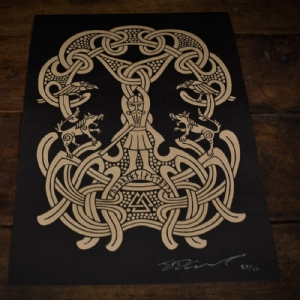 Limited Edition Odin & The Runes A3 Print