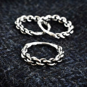 Pewter Chunky Twist Ring