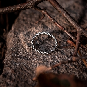 Sterling Silver Jorvik Twist Ring