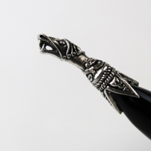 Dragon Head Tipped Drinking Horn