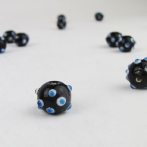 Dark Blue Eye Bead with White and Blue Eyes