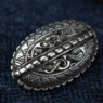 Pair of Broa Style Oval Brooches