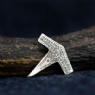 925 Sterling Silver Hammered Hammer