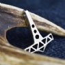 925 Sterling Silver Openwork Thor's Hammer