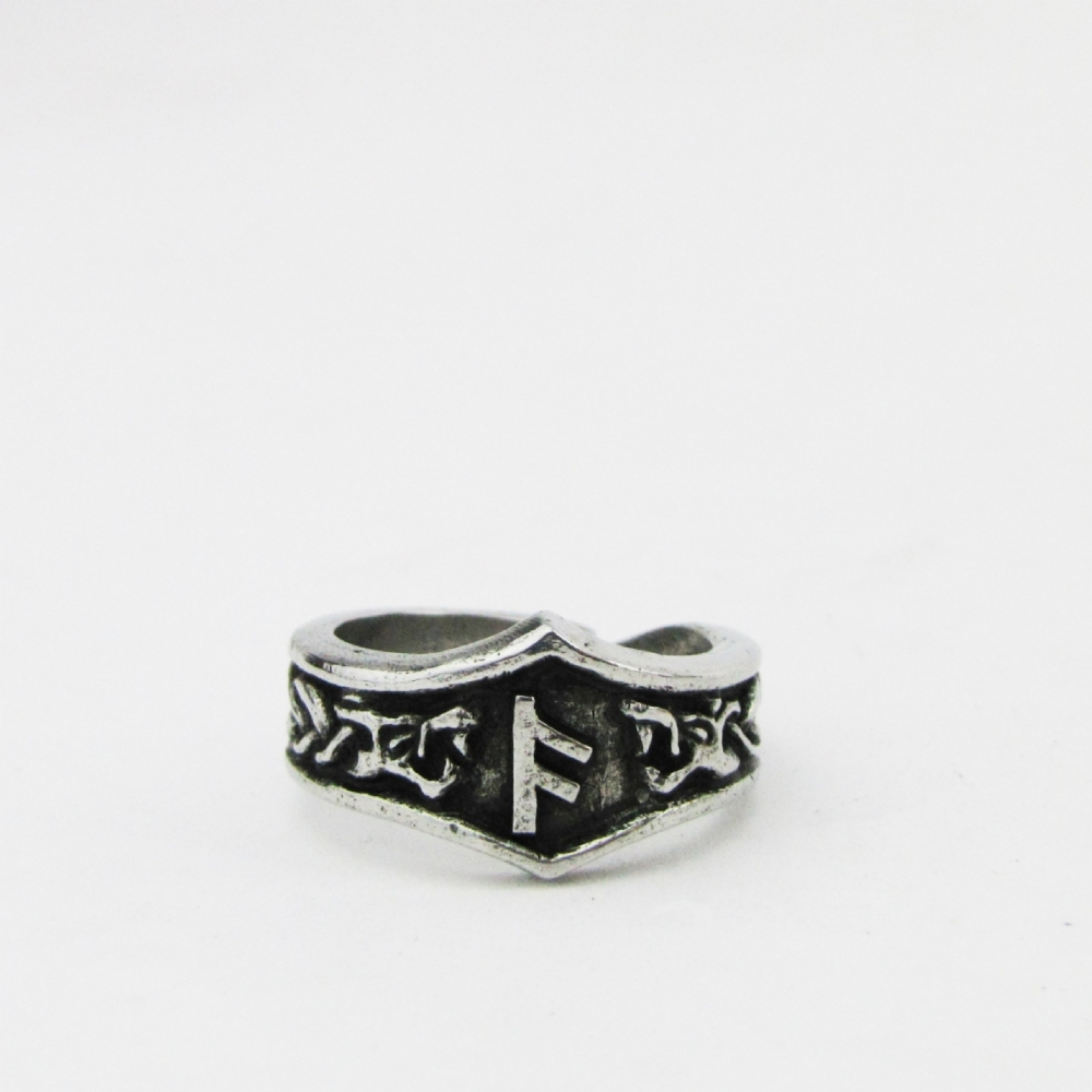 rune letter adjustable shop ring gebo asgard rings g pewter