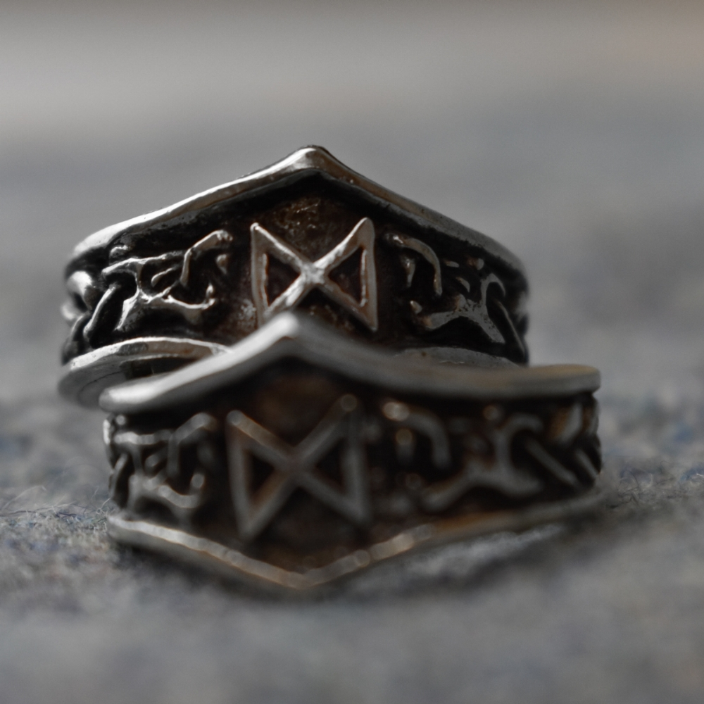 ring rings products rebelsmarket wisdom pewter polished enameled pentagram highly black roseus