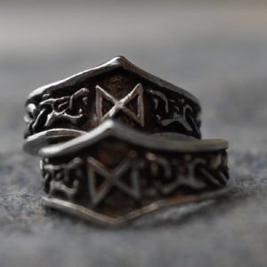 Dagaz Letter D Rune Ring - Adjustable