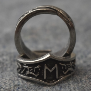 Ehwaz Letter E Rune Ring - Adjustable