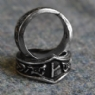 Kaun Letter K or Q Rune Ring - Adjustable