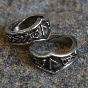 Laguz Letter L Rune Ring - Adjustable