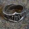 Mannaz Letter M Rune Ring - Adjustable