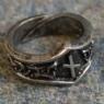 Naudiz Letter N Rune Ring - Adjustable