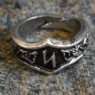 Sowilo Letter S Rune Ring - Adjustable