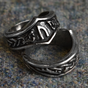Uruz Letter U or V Rune Ring - Adjustable