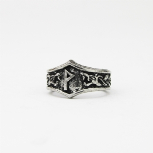 Wunjo Letter W rune Ring - Adjustable