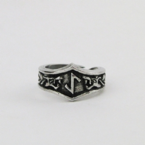 Eihwaz Letter Y Rune Ring - Adjustable