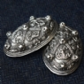 925 Sterling Silver Tortoise Brooches - Pair