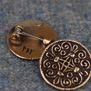 Jorvik Scroll Work Brooch : Bronze
