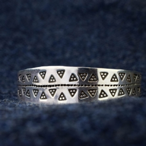 925 Sterling Silver Triangle Cuff #2