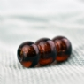 Brown Stacked Glass Bead