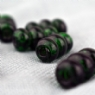 Green Stacked Glass Bead