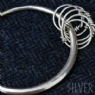 925 Sterling Silver Knotted Bangle