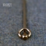 Bronze Polyhedral Headed Ring Pin