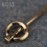 Bronze Baluster Ring Pin - Cross Design